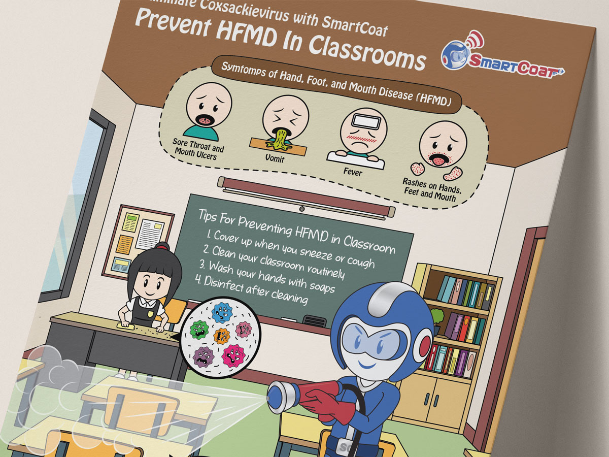 SmartCoat Prevents HFMD in Classrooms Poster Design 01