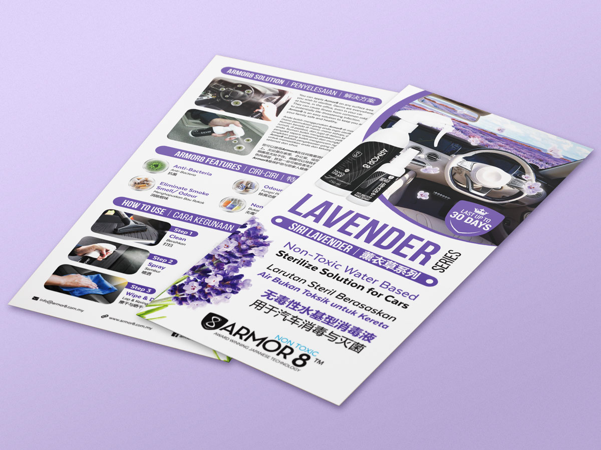 Armor8 Lavender Series for Cars Flyer Design 01