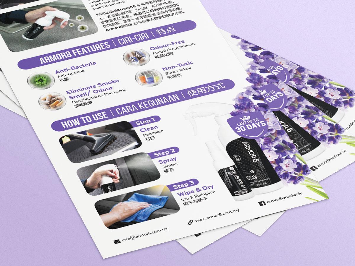 Armor8 Lavender Series for Cars Flyer Design 04