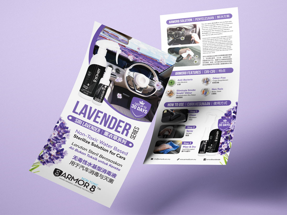 Armor8 Lavender Series for Cars Flyer Design 05