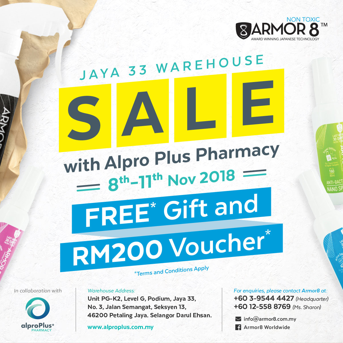 Armor8 Jaya 33 Warehouse Sale with Alpro Plus Facebook Post Design 04