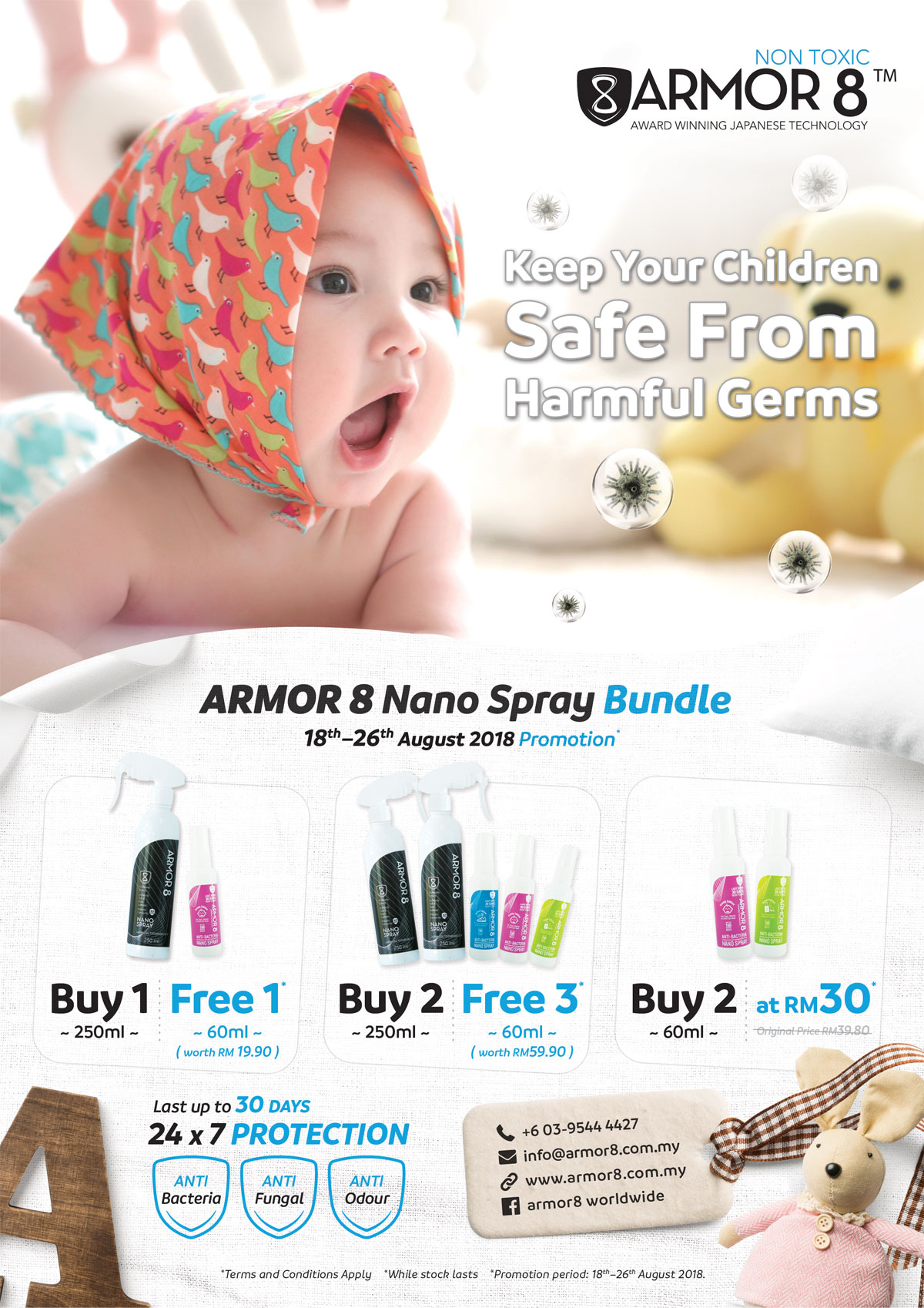 Armor8 Keeps Your Children Safe From Harmful Germs Poster Design 06