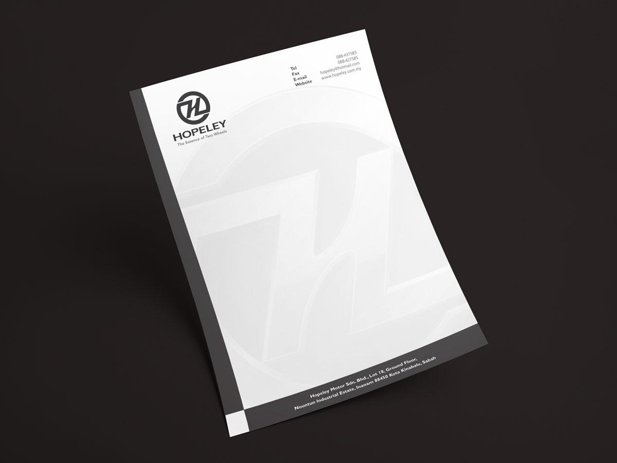 Hopeley Branding Letterhead Design 06