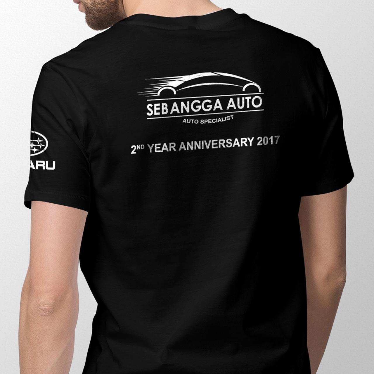 Sebangga Auto Subaru Forester Black Graphic Tees Back 03