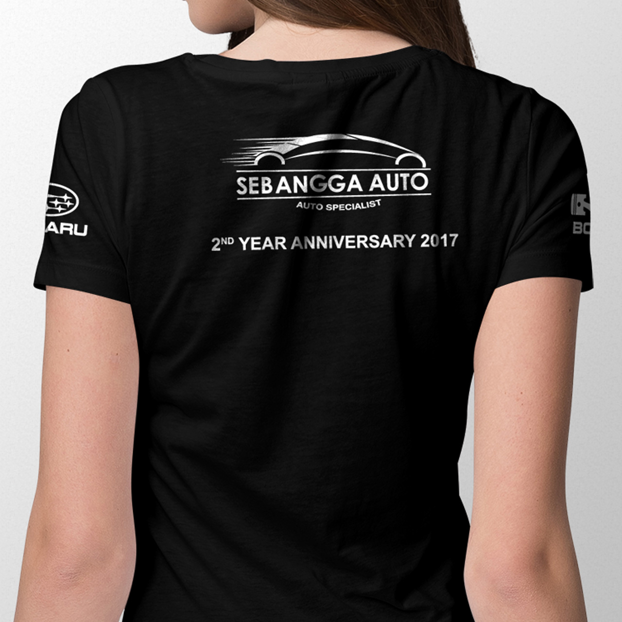 Sebangga Auto Subaru XV Black Graphic Tees Back 05