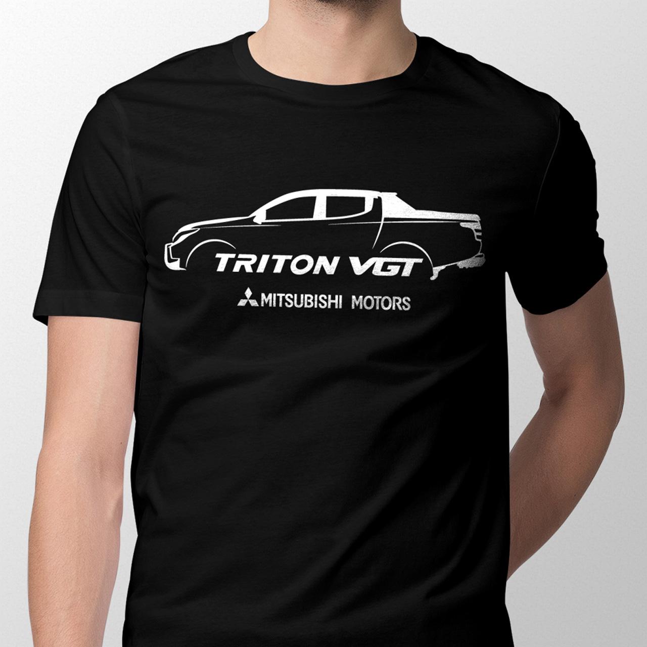 Sebangga Dunia Mitsubishi Triton VGT Black Graphic Tees Front 02