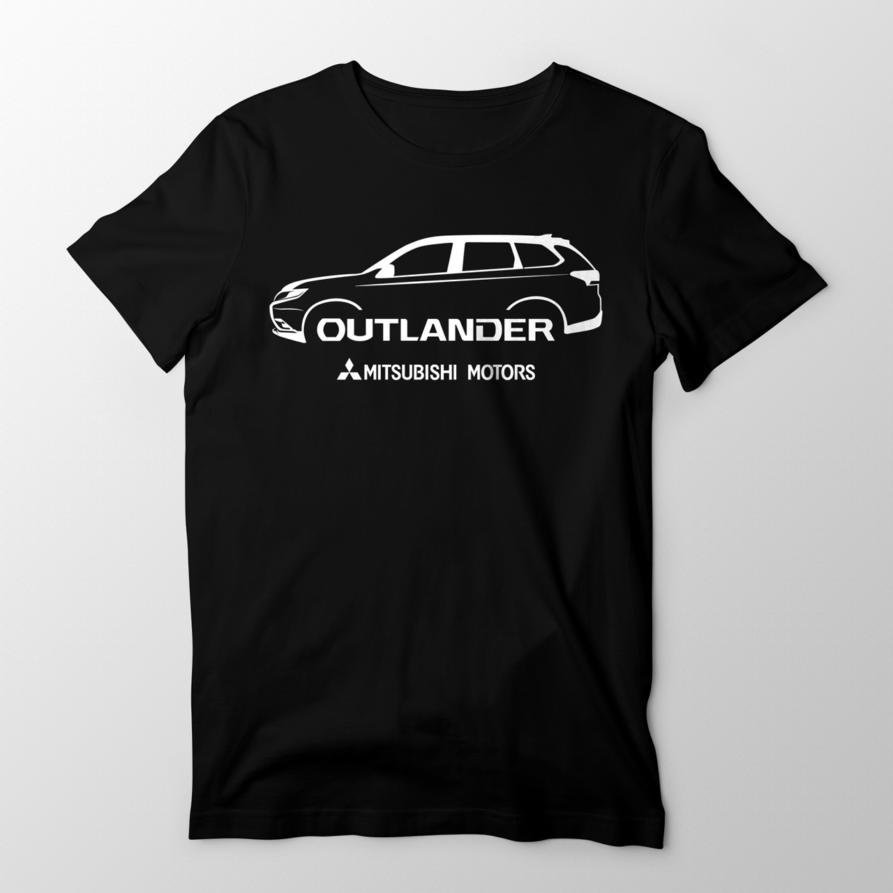 Sebangga Dunia Mitsubishi Outlander Black Graphic Tees Front 07