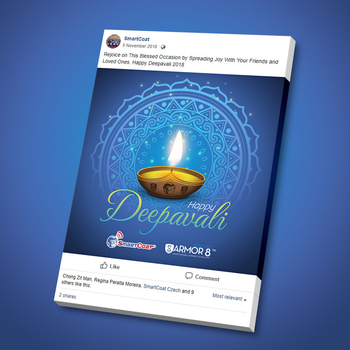 SmartCoat and Armor8 Happy Deepavali 2018 Facebook Post Design 03
