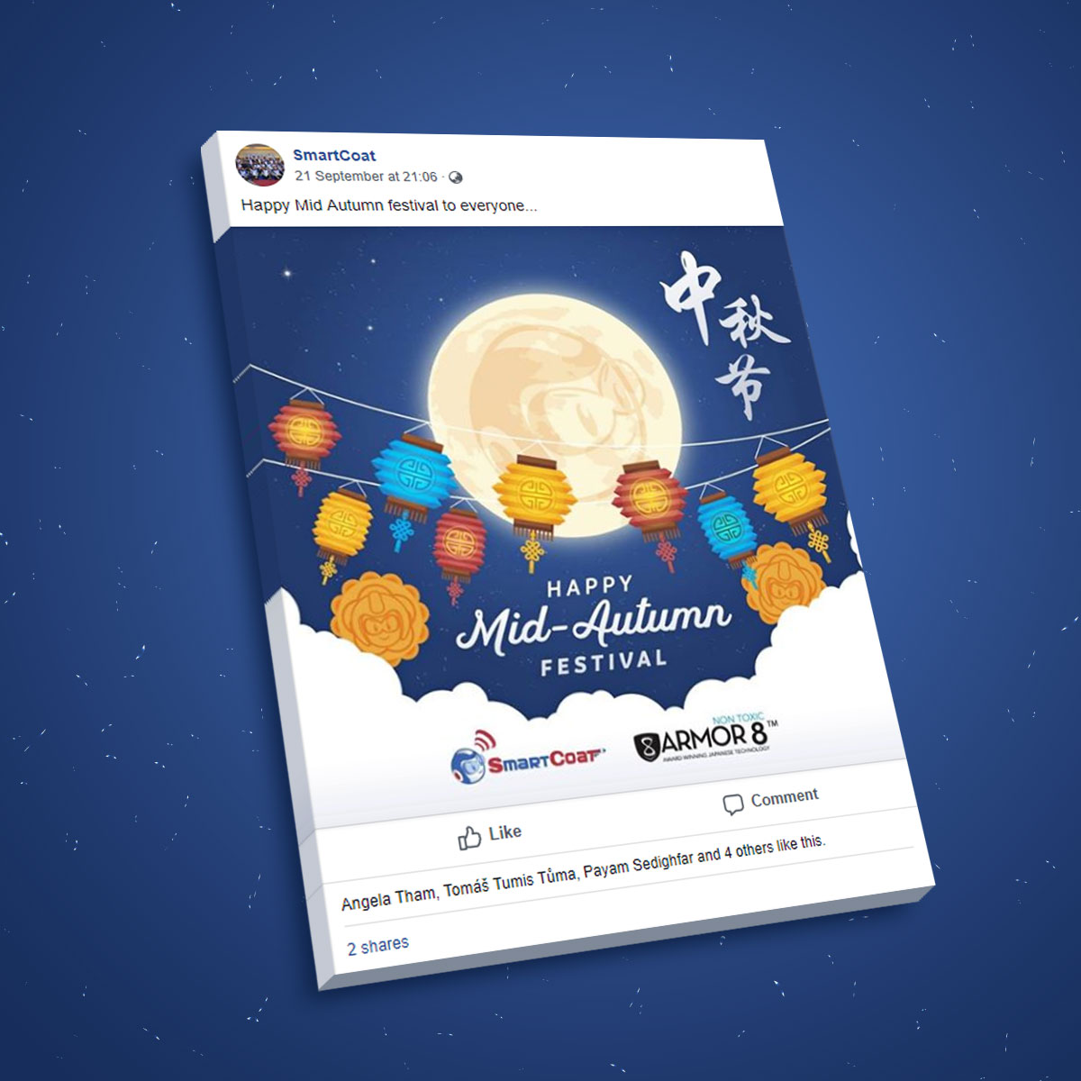 SmartCoat and Armor8 Happy Mid-Autumn Festival 2018 Facebook Post Design 03