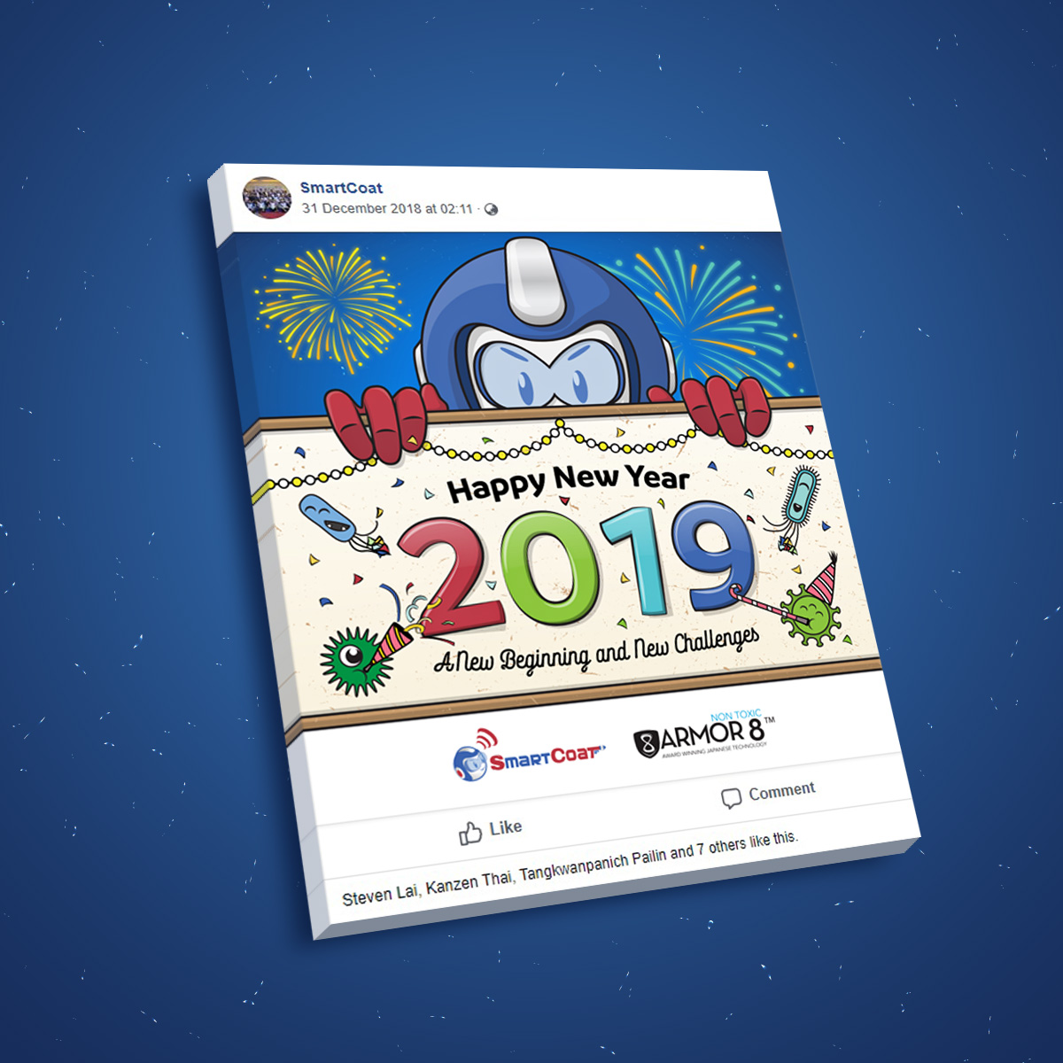 SmartCoat and Armor8 Happy New Year 2019 Facebook Post Design 03