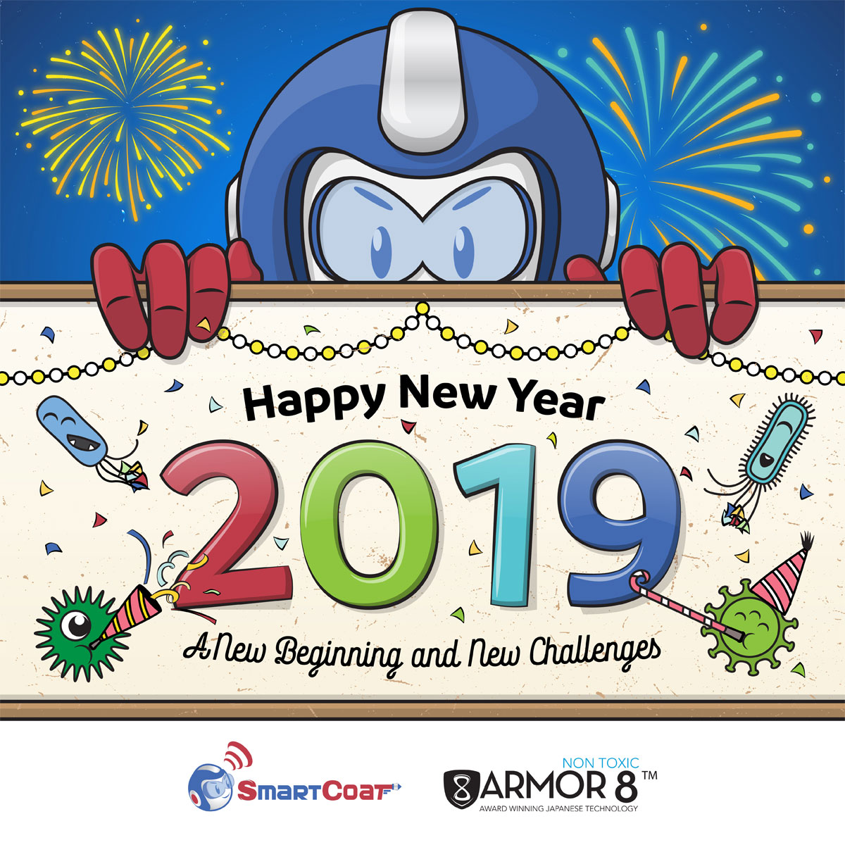 SmartCoat and Armor8 Happy New Year 2019 Facebook Post Design 04