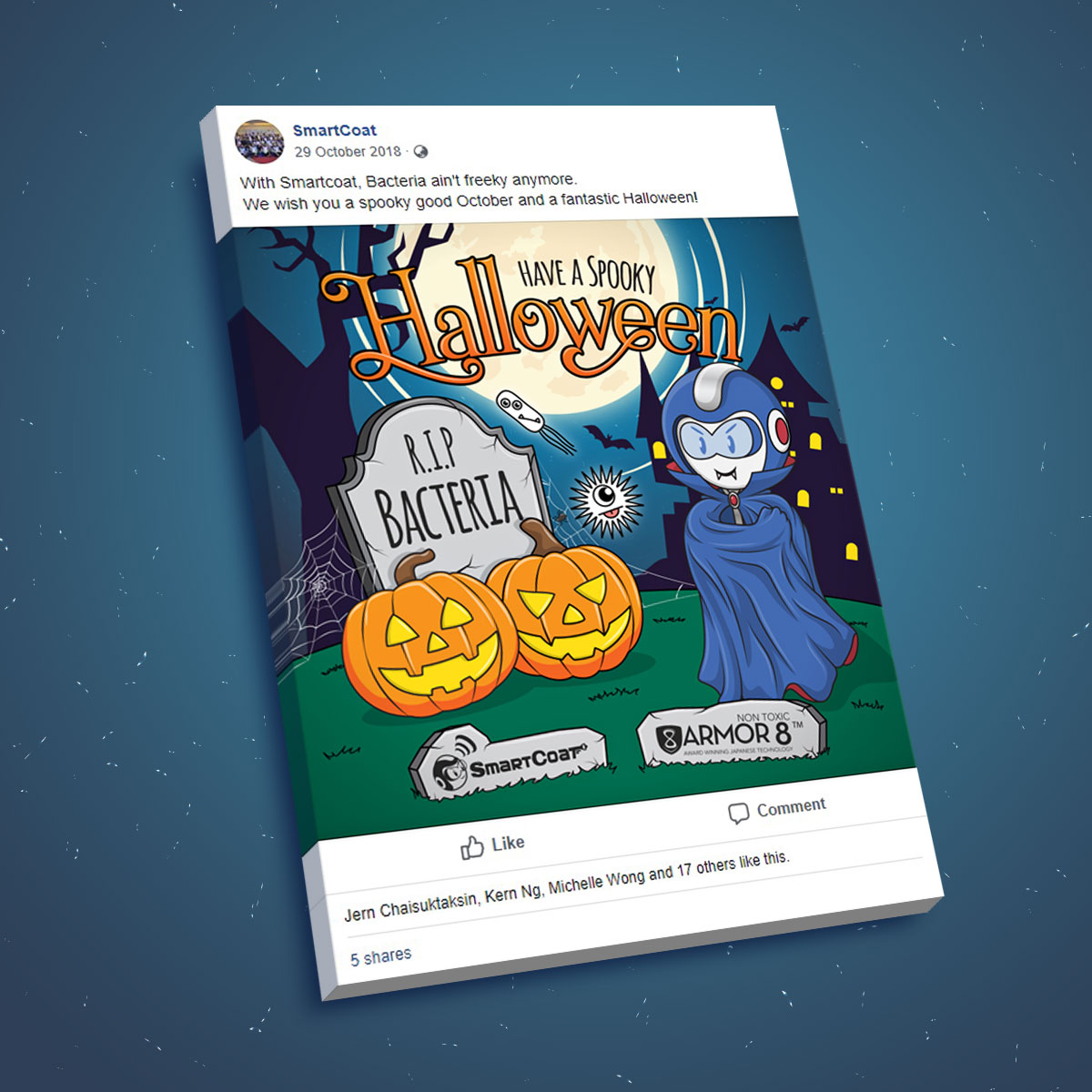 SmartCoat and Armor8 Have A Spooky Halloween 2018 Facebook Post Design 03