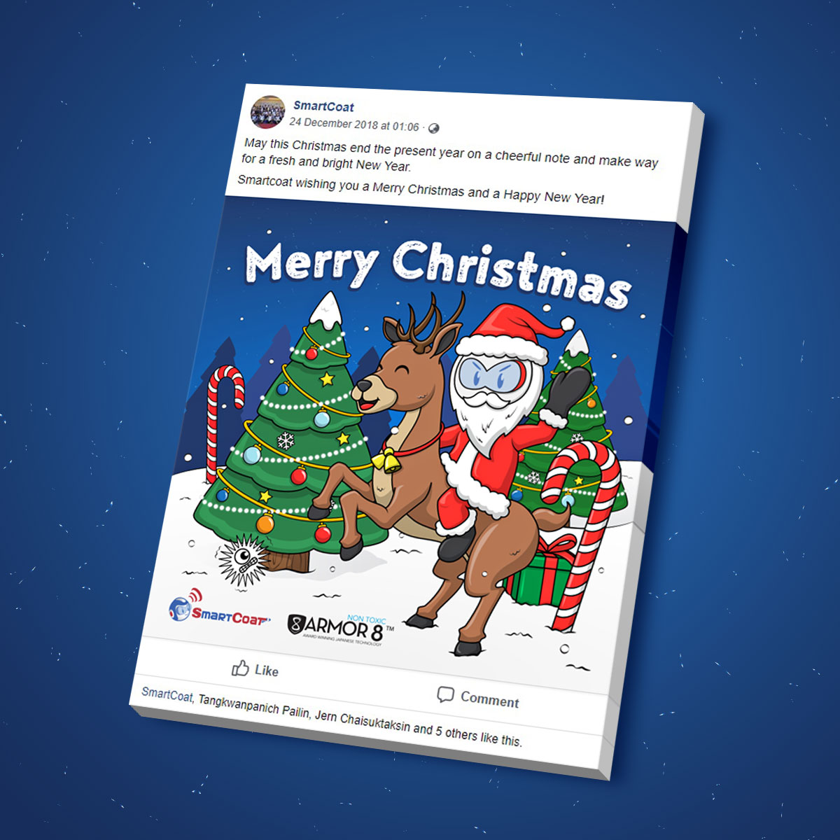 SmartCoat and Armor8 Merry Christmas 2018 Facebook Post Design 03