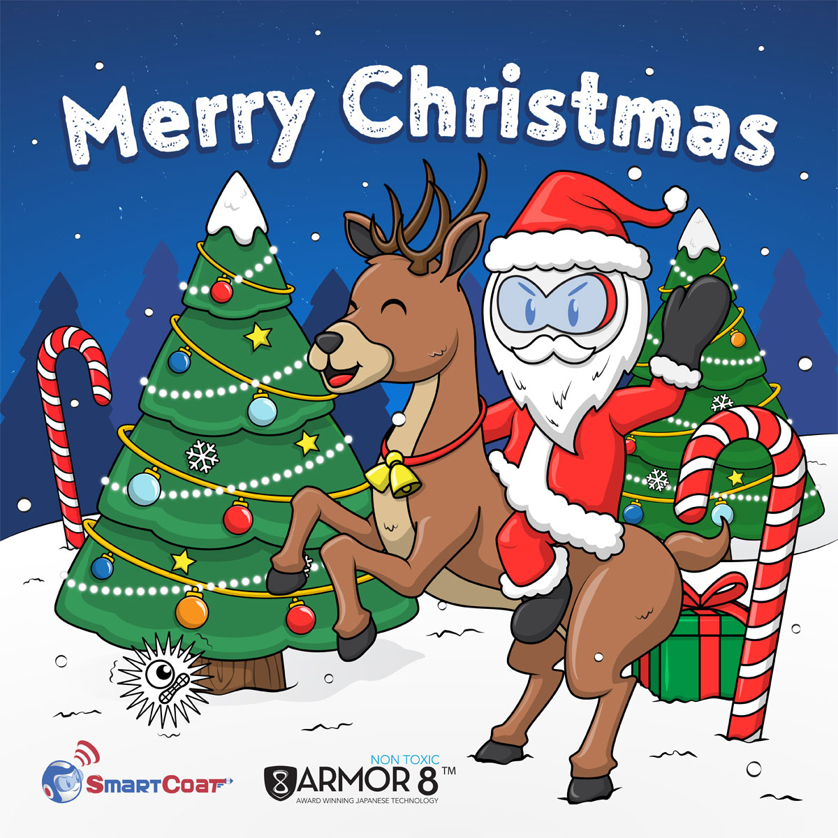 SmartCoat and Armor8 Merry Christmas 2018 Facebook Post Design 04
