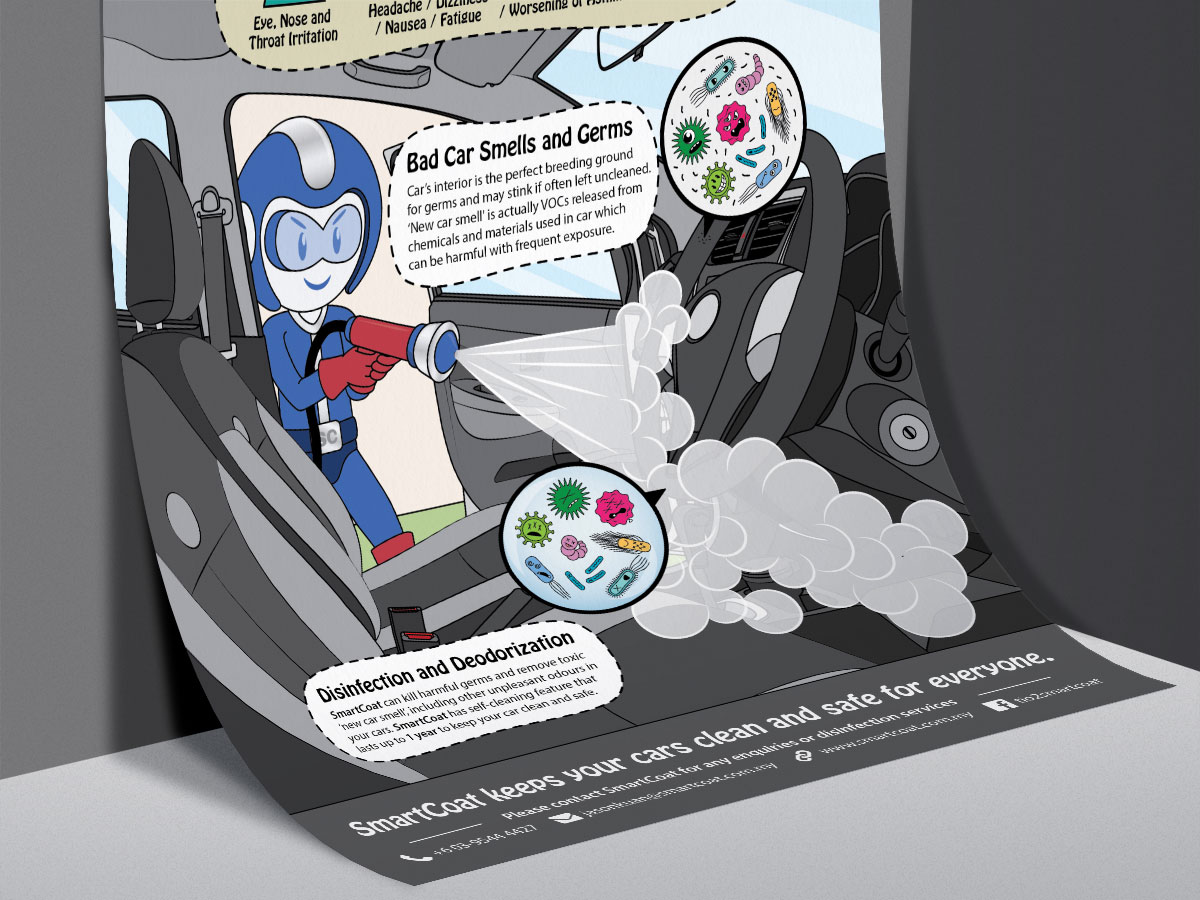 SmartCoat Removes Car Smells and Germs Poster Design 02