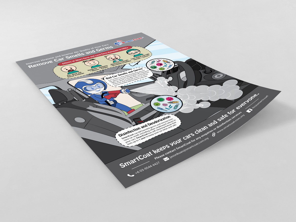 SmartCoat Removes Car Smells and Germs Poster Design 03