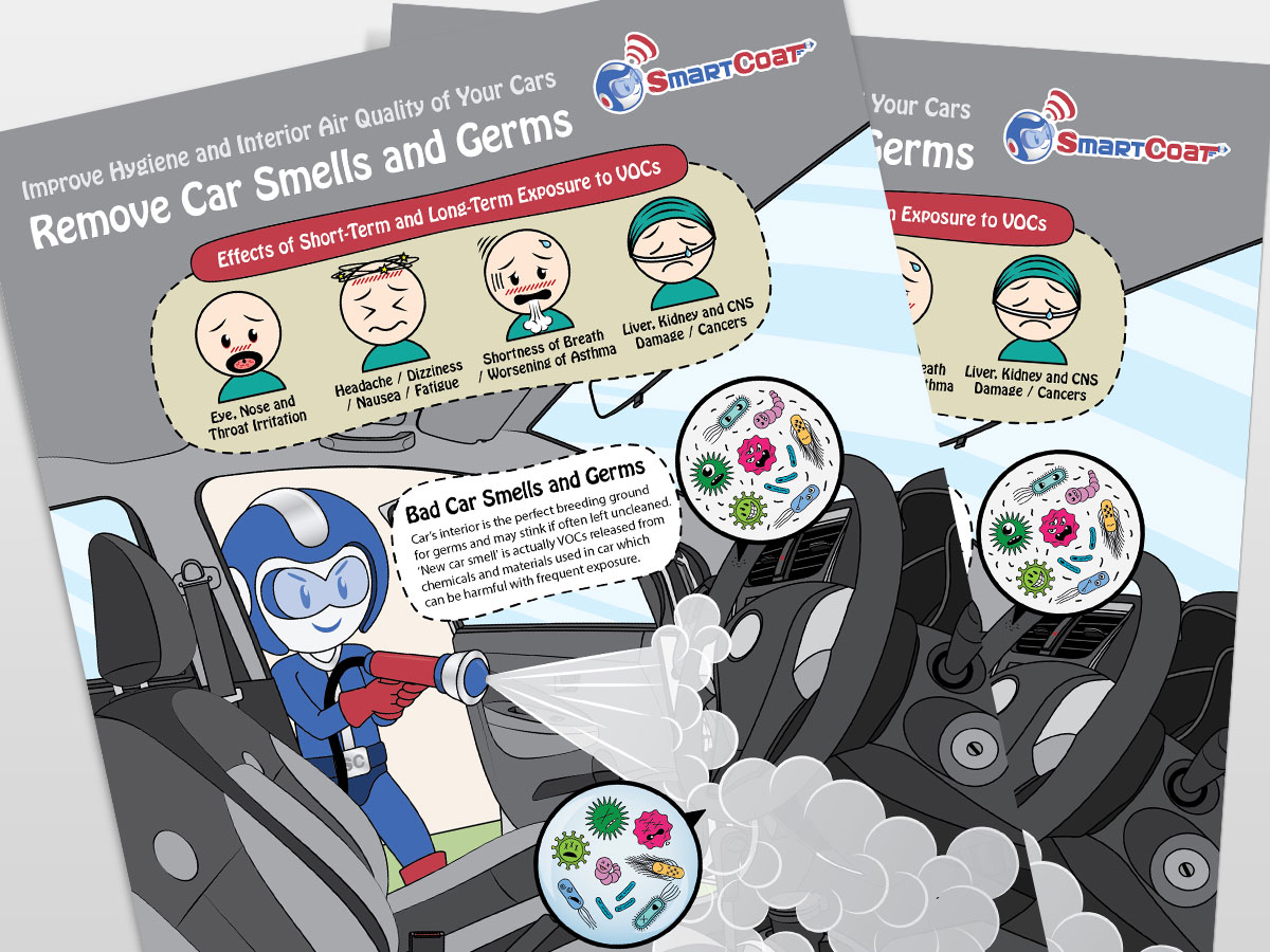 SmartCoat Removes Car Smells and Germs Poster Design 04