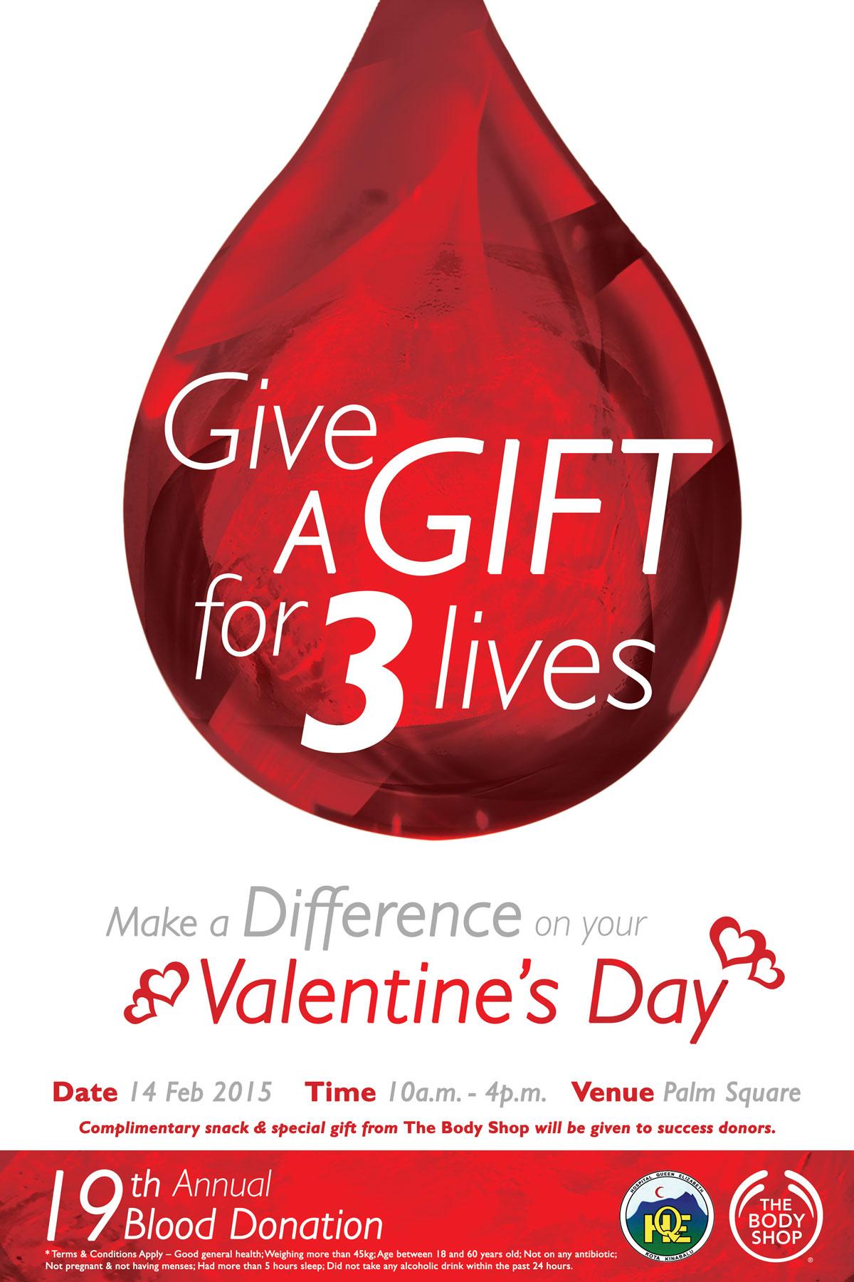 The Body Shop 19th Annual Blood Donation Invitation Poster Design 04