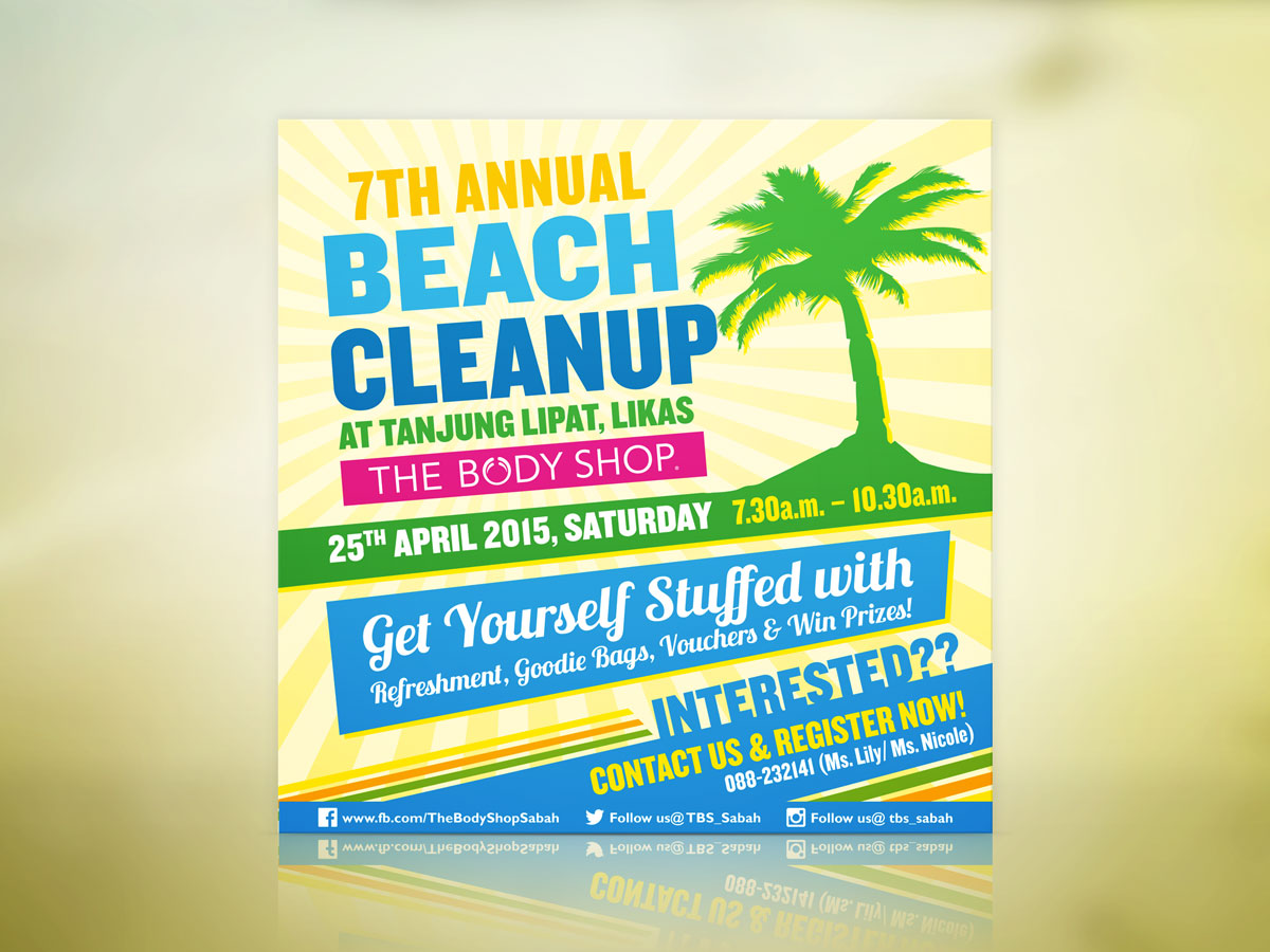 The Body Shop 7th Annual Beach Cleanup Invitation Post Design 01