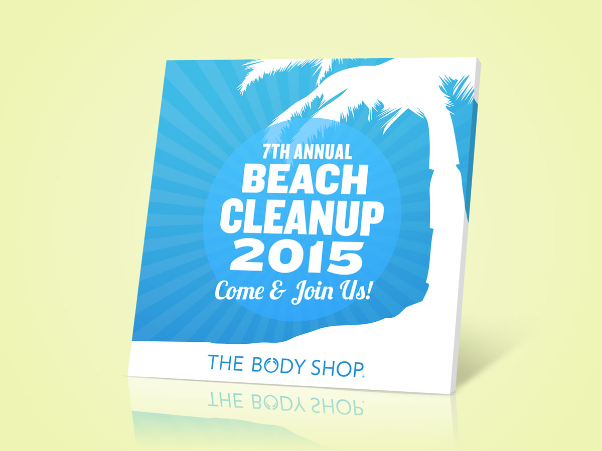 The Body Shop 7th Annual Beach Cleanup Invitation Post Design 02