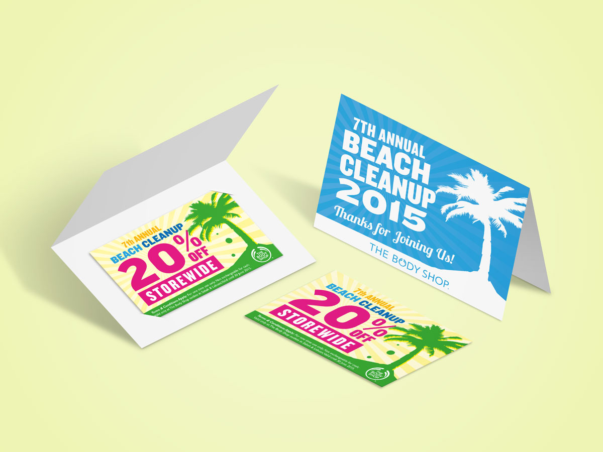 The Body Shop 7th Annual Beach Cleanup Voucher Designs 04
