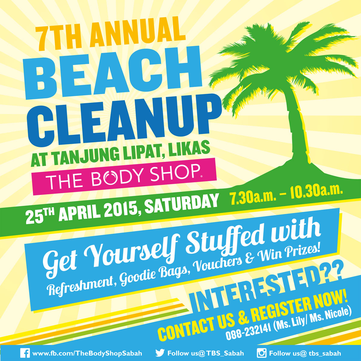 The Body Shop 7th Annual Beach Cleanup Invitation Post Design 05