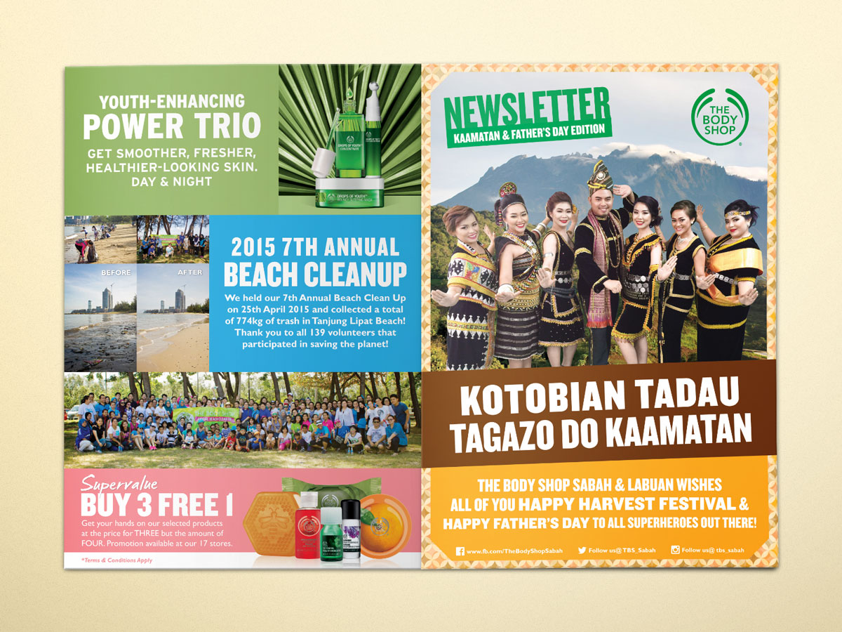 The Body Shop Kaamatan and Father's Day Newsletter 2015 Design 04