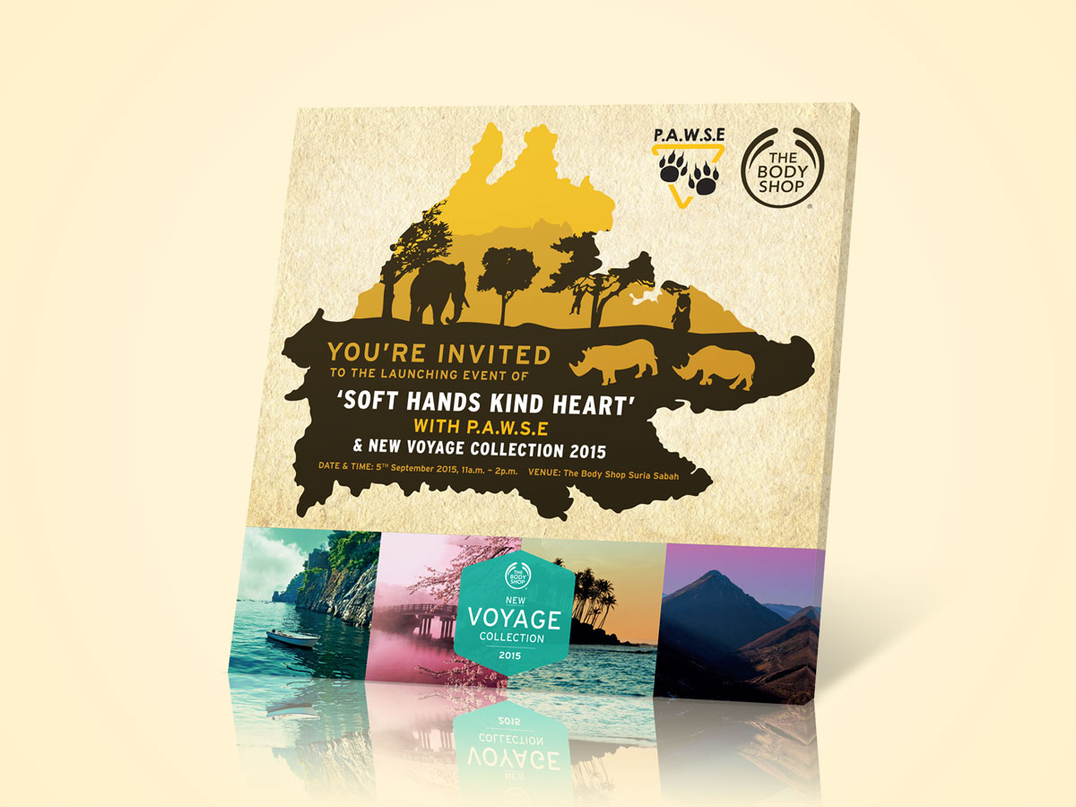 The Body Shop Soft Hands Kind Heart and P.A.W.S.E Charity Invitation Post Design 01