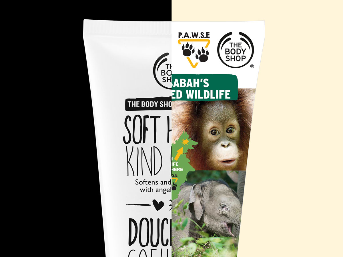 The Body Shop Soft Hands Kind Heart and P.A.W.S.E Charity Prop Design 03