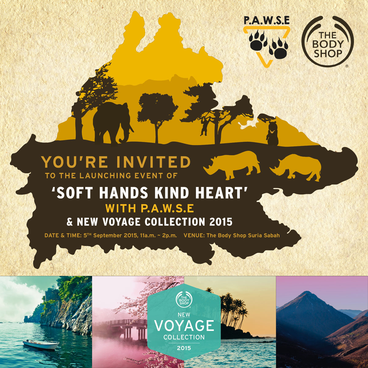 The Body Shop Soft Hands Kind Heart and P.A.W.S.E Charity Invitation Post Design 04