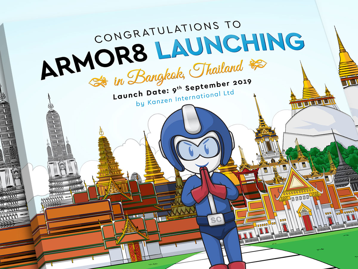 Armor8 Launching in Bangkok Celebration Facebook Post Design 01