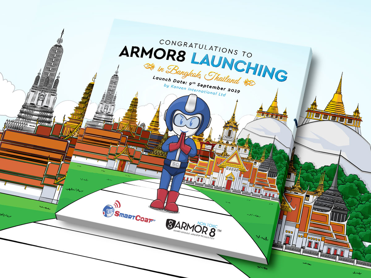 Armor8 Launching in Bangkok Celebration Facebook Post Design 02