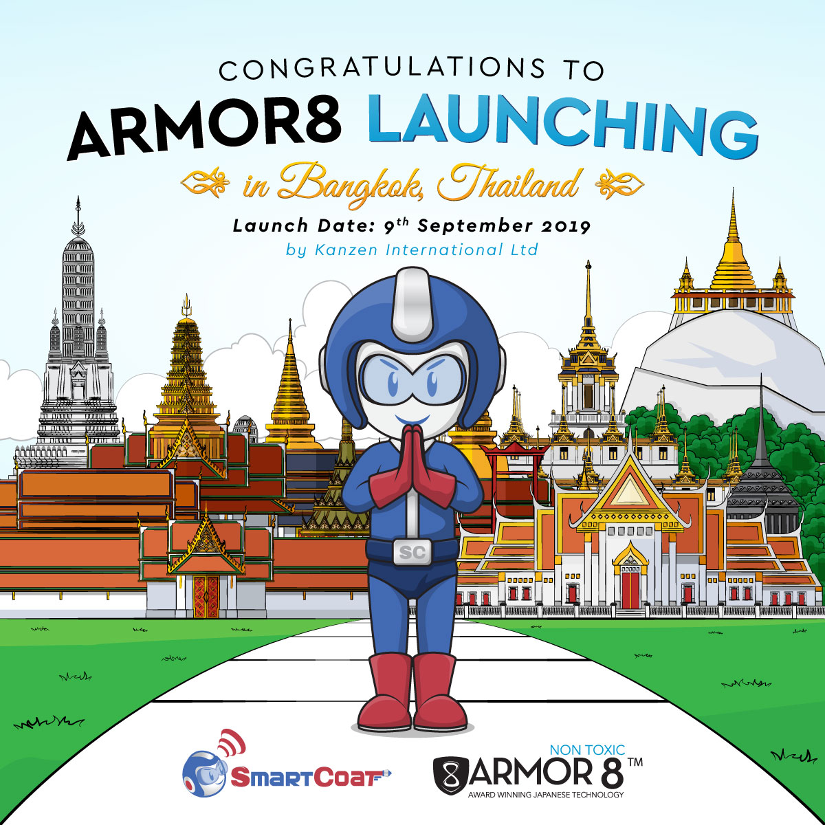 Armor8 Launching in Bangkok Celebration Facebook Post Design 04