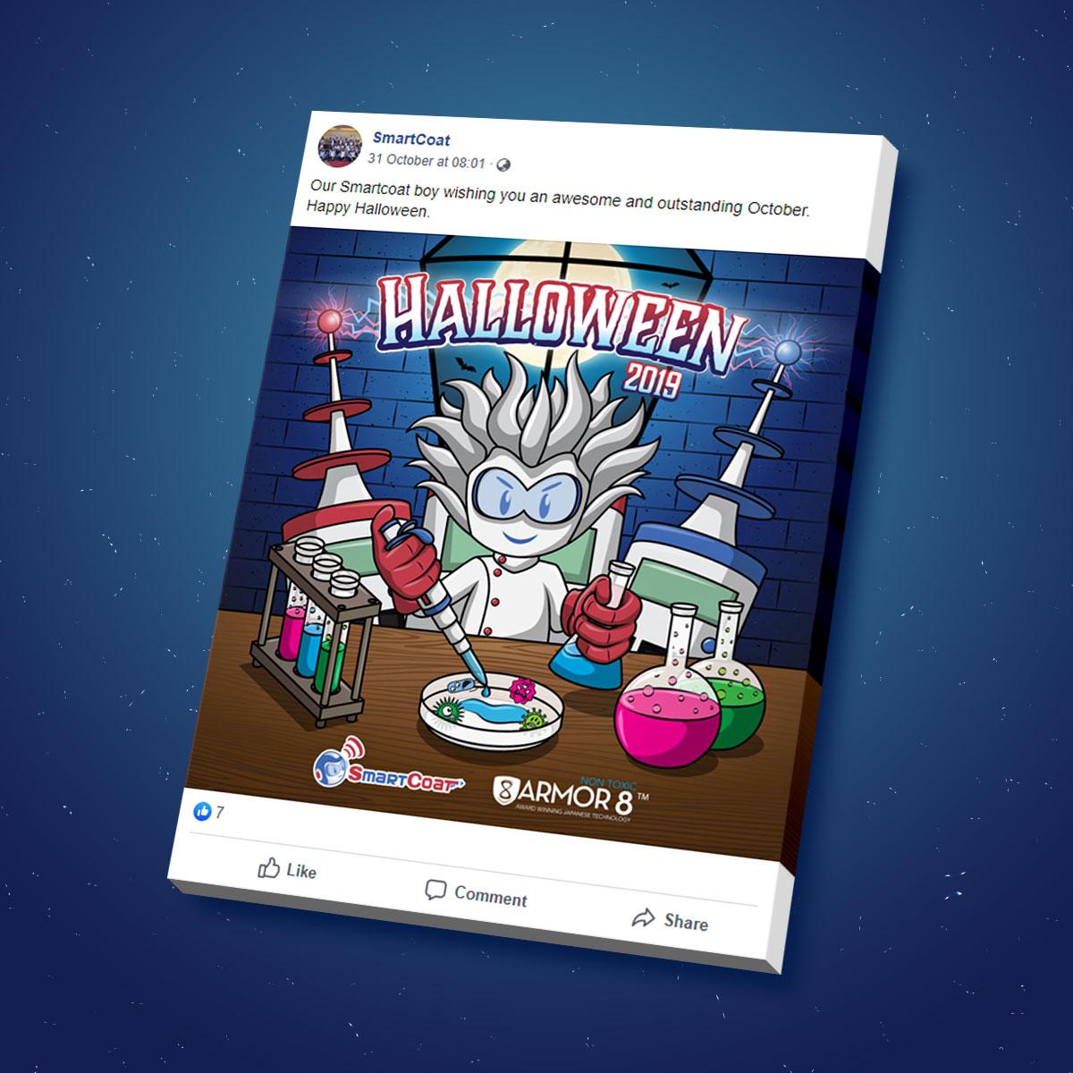 SmartCoat and Armor8 Halloween 2019 Facebook Post Design 03