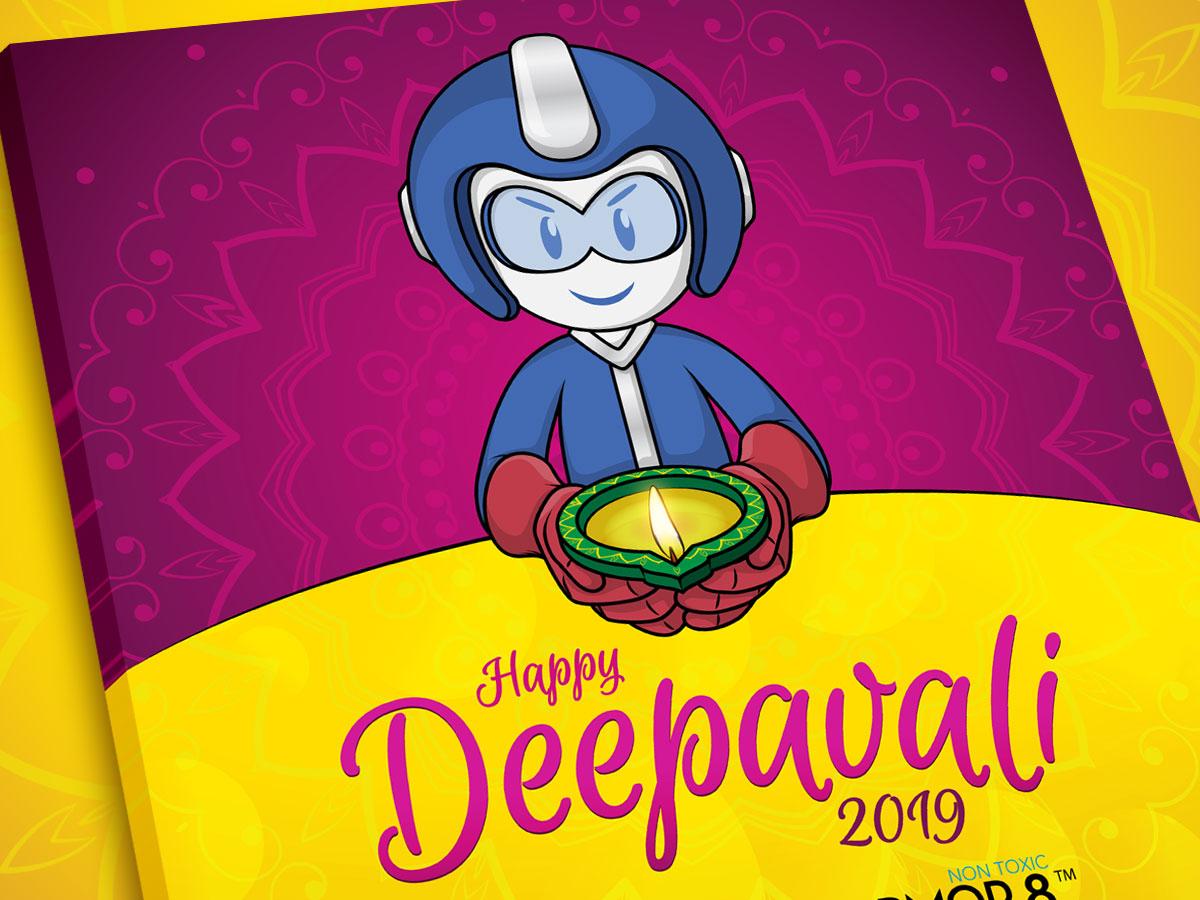 SmartCoat and Armor8 Happy Deepavali 2019 Facebook Post Design 01