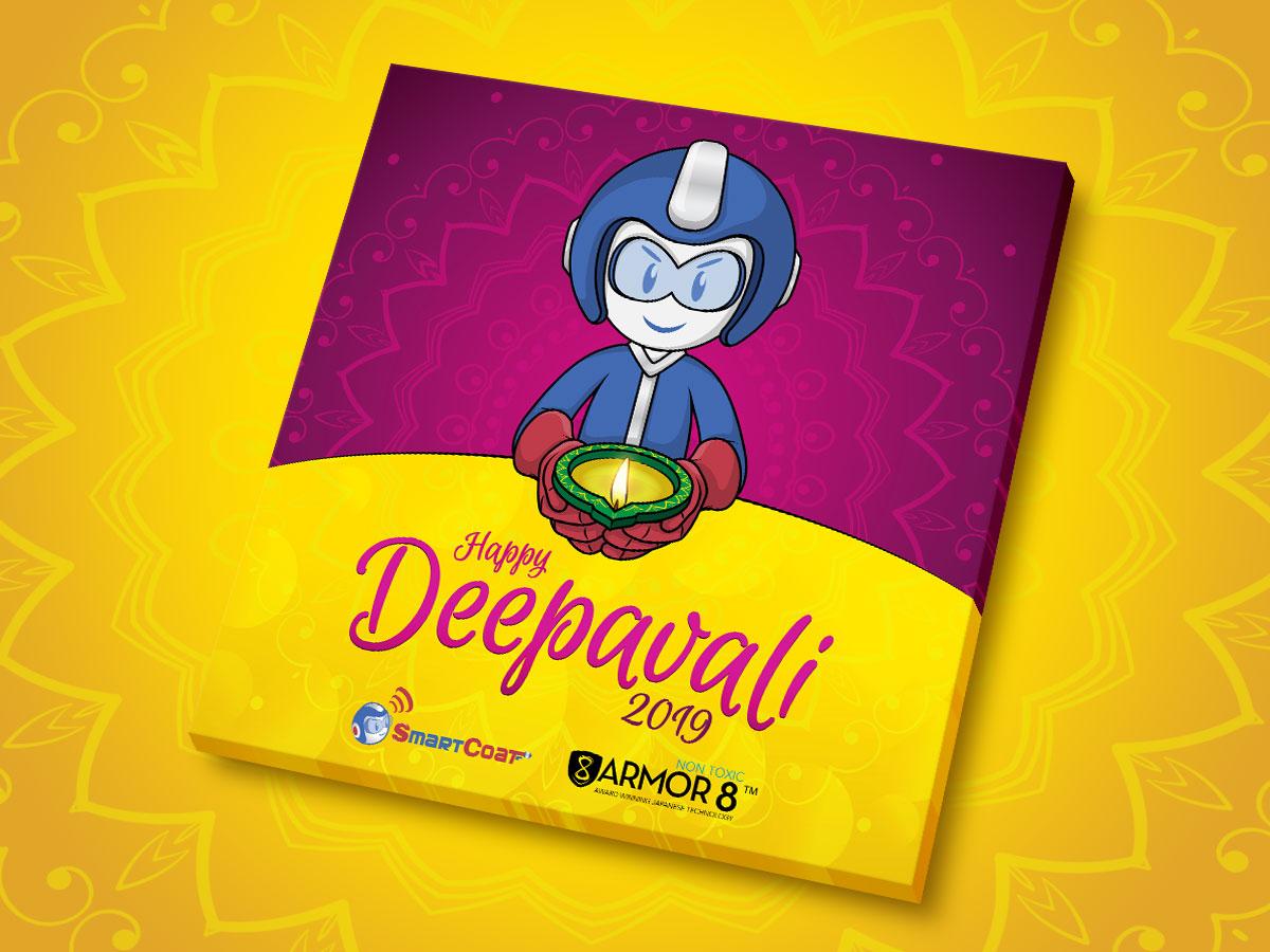 SmartCoat and Armor8 Happy Deepavali 2019 Facebook Post Design 02