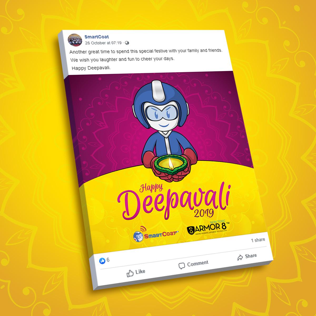 SmartCoat and Armor8 Happy Deepavali 2019 Facebook Post Design 03