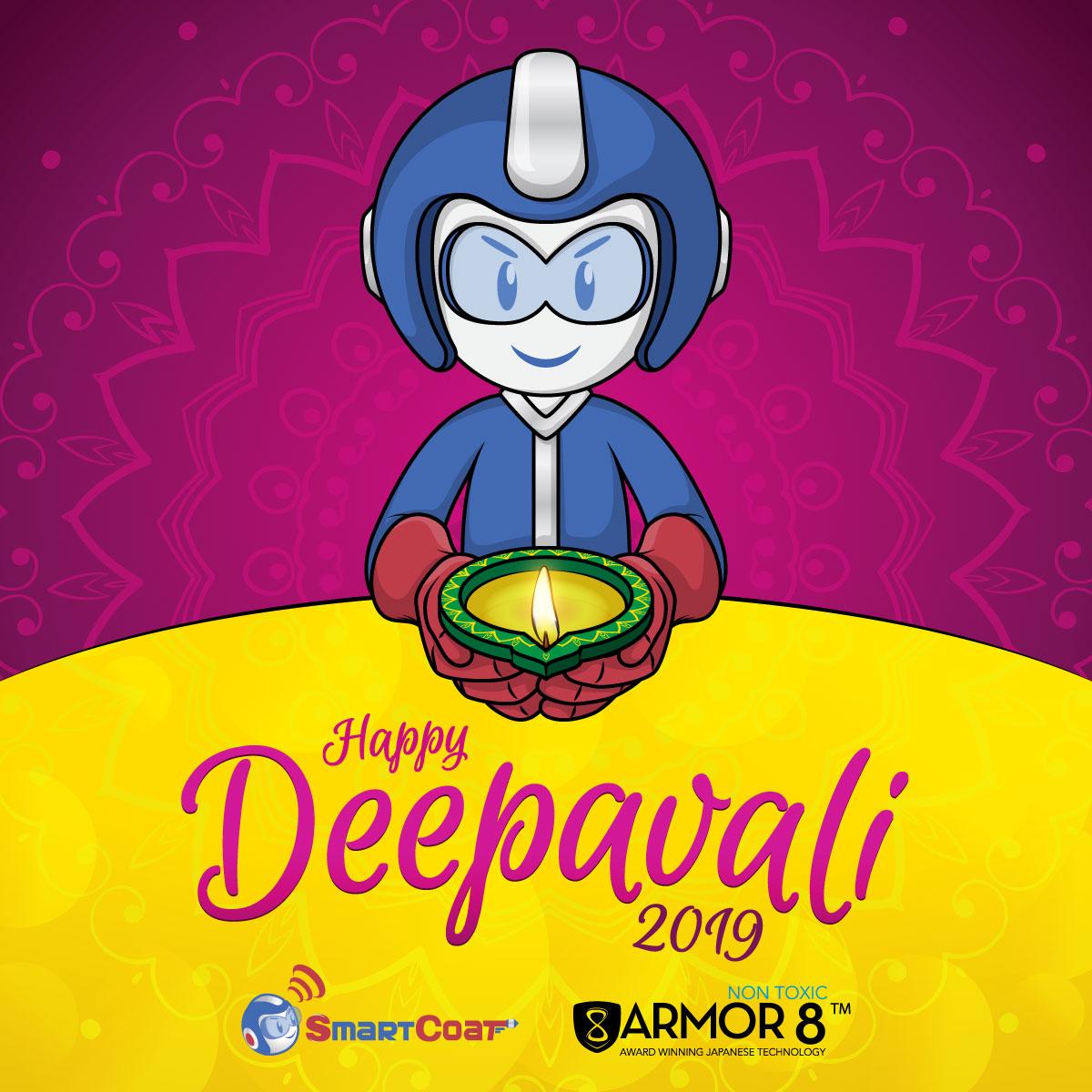 SmartCoat and Armor8 Happy Deepavali 2019 Facebook Post Design 04